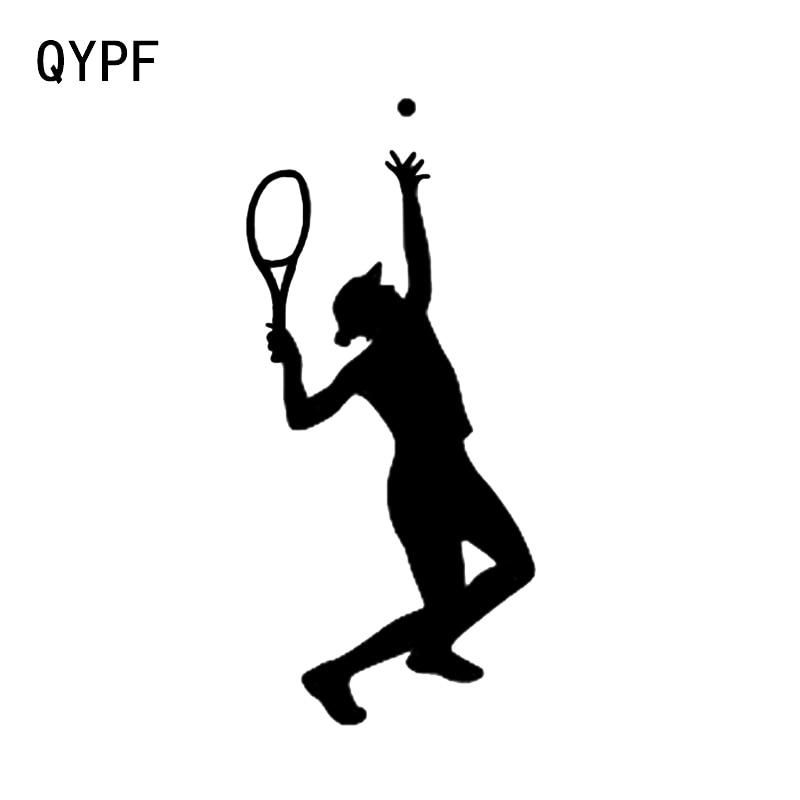 QYPF 7,8*17 CM más fresco deporte tenis decoración coche pegatina vinilo parachoques ventana calcomanías C16-1548