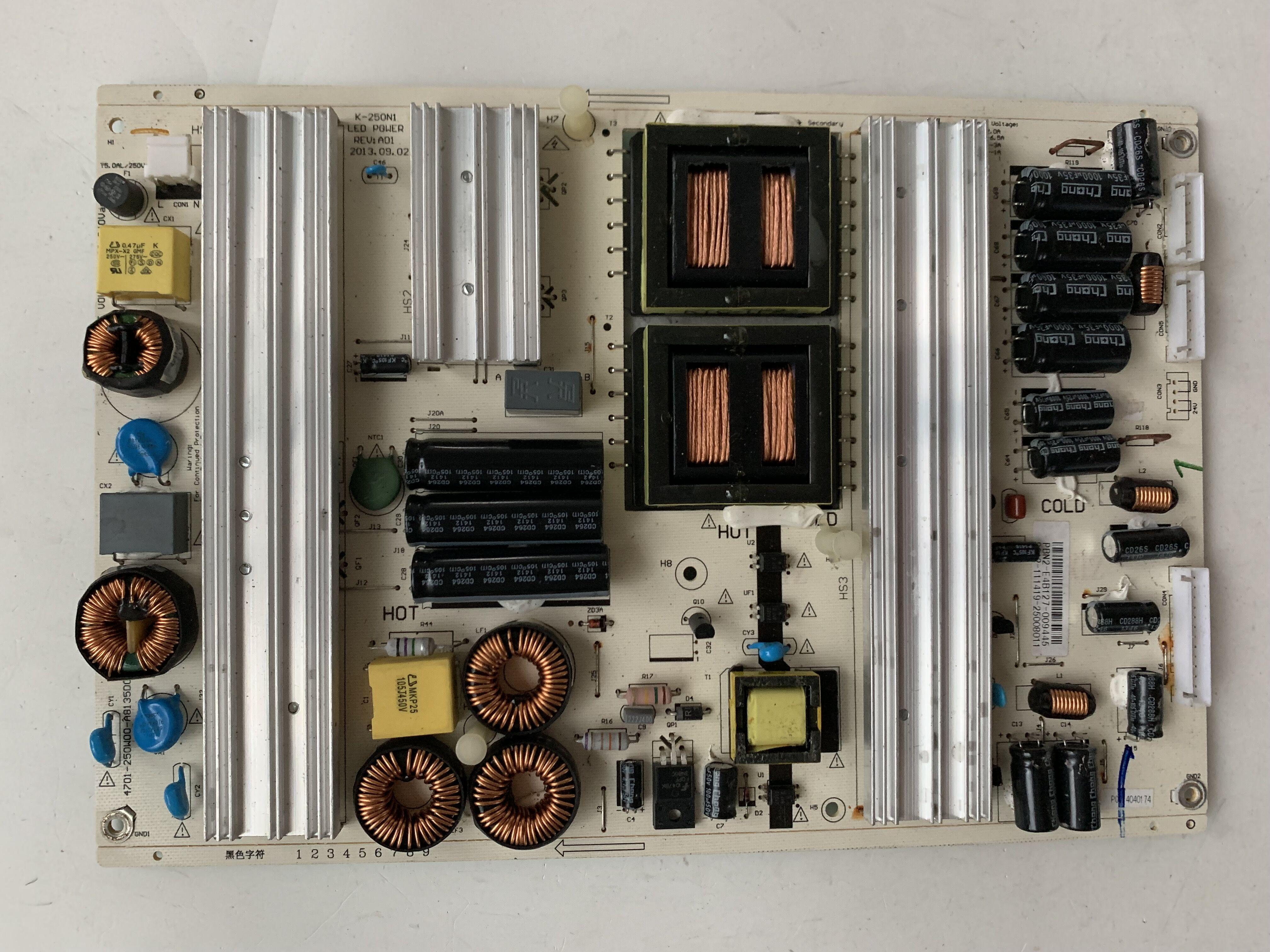 Placa base de circuito lógico Original LE55D79001 Placa de alimentación K-250N1 LED potencia REV A01 PBN2-C90123-0