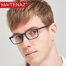 MAITENAZ TR90 Prescription Eyeglasses Full Frame Myopia Hyperopia Glasses for Men Women Fashion Comf