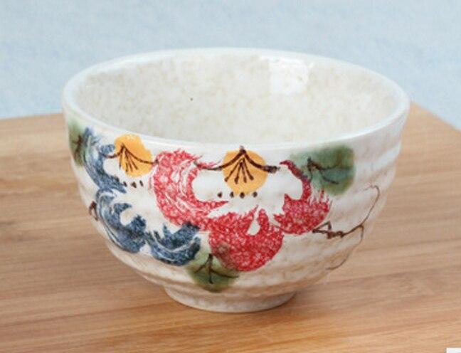 Boa qualidade Japonês matcha tigela, cerâmica conjunto de chá matcha, 300 ml exprot peônia flor tigela