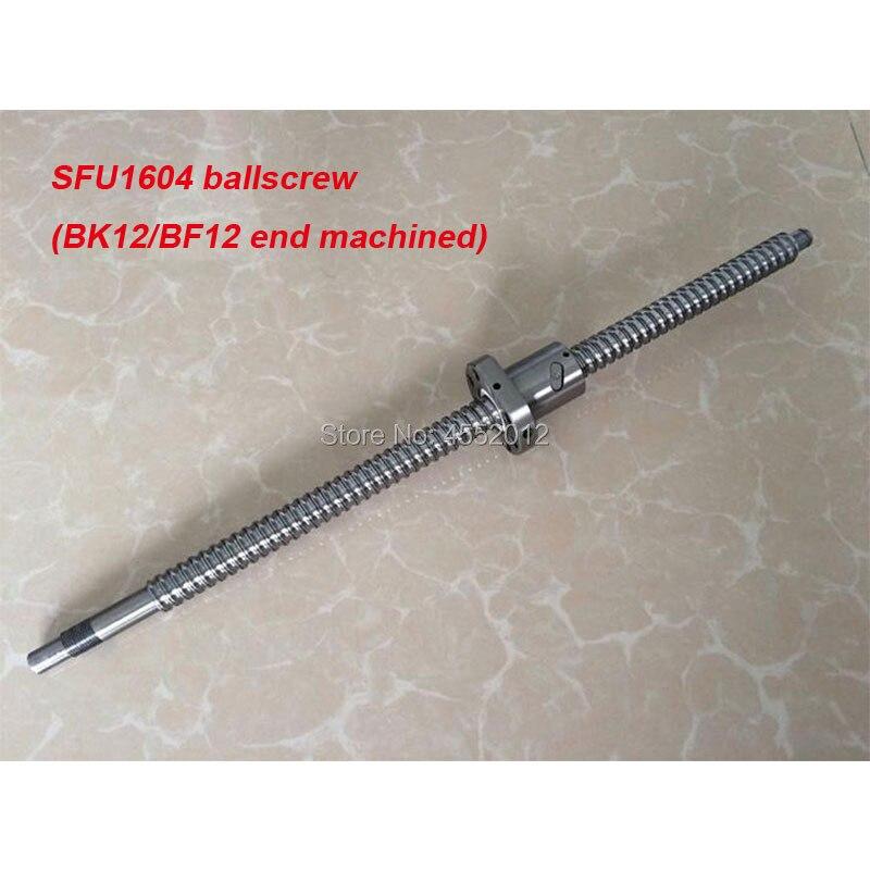 BallScrew SFU1604 L = 1200 1500 مللي متر توالت الكرة اللولبية مع واحد Ballnut الكمبيوتر ل CNC أجزاء BK/BF12 نهاية القياسية تشكيله
