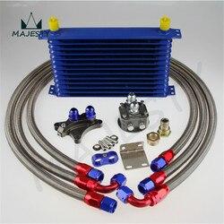 13 ROW OIL COOLER KIT PARA Silvia S13 S14 S15 180SX 200SX 240SX SR20DET AZUL