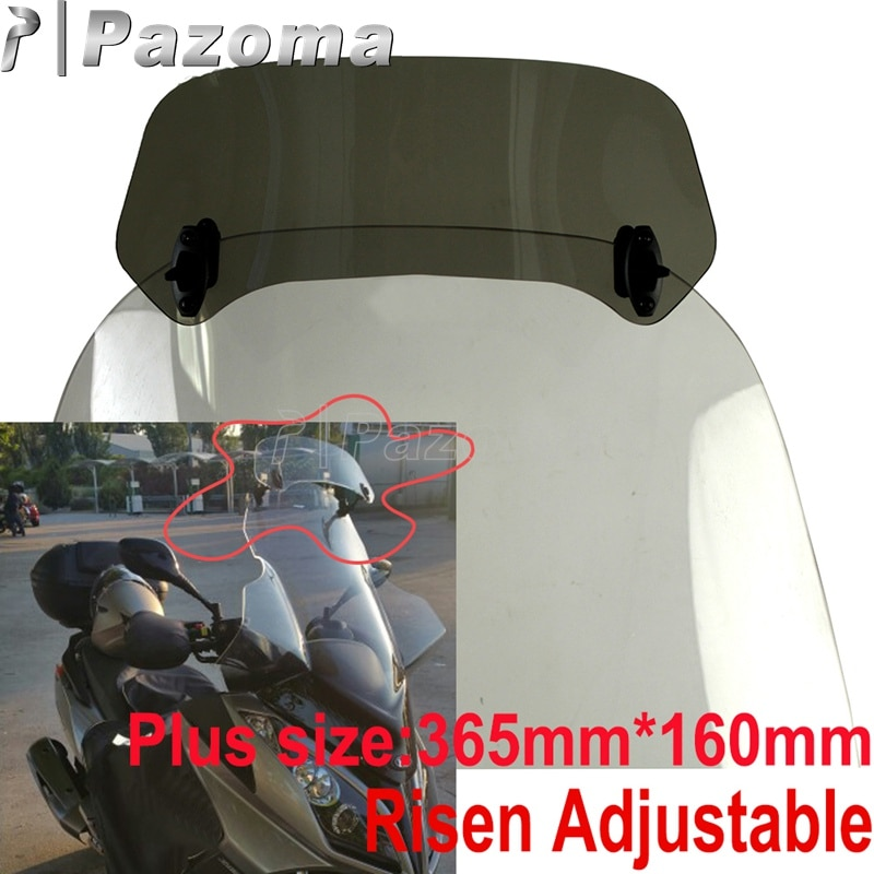 Pantalla de humo para parabrisas de motocicleta, Deflector de aire para Ducati Suzuki KTM Honda Yamaha BMW F800 R1200GS YZF R1 R3 FZ1