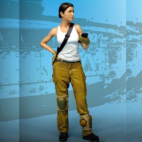 1/35 Resina Figura Modelo Soldado Israelense Mulheres Soldado Militar Guerra 23