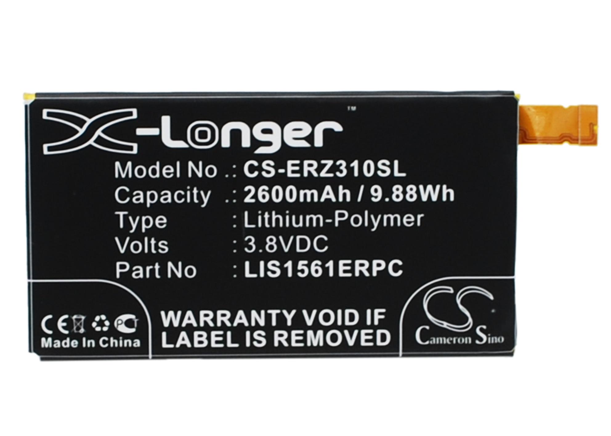 Cameron Sino batería 2600mAh LIS1561ERPC para Sony Ericsson Cosmos DS,D5803, E5363, E5353,Xperia...