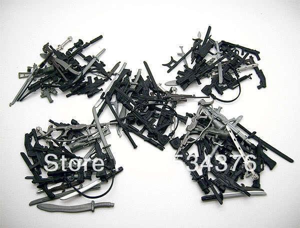"""Партия из 100 шт. Г. И. Оружие JOE GI Joe, пистолет, лезвие, нож, костюм для 3,75 """"весы, экшн-фигурка, кукла"""