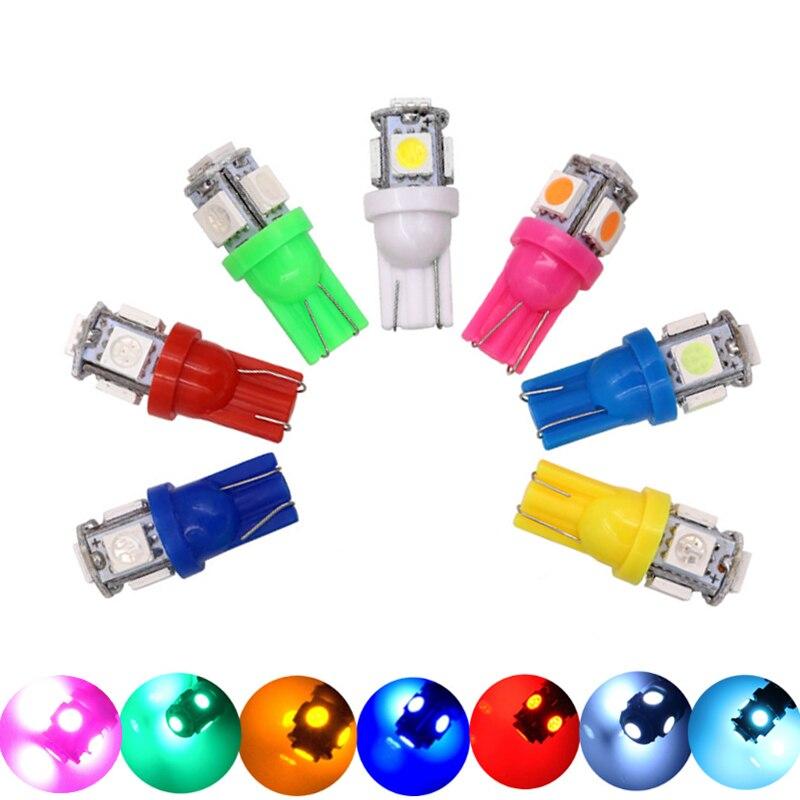 20 piezas T10 W5W 194 168 6V 6,3 V 5 SMD 5050 LED coche cuña LED condensadores piloto lámpara de distancia Luz de aparcamiento luz de lectura DC6V