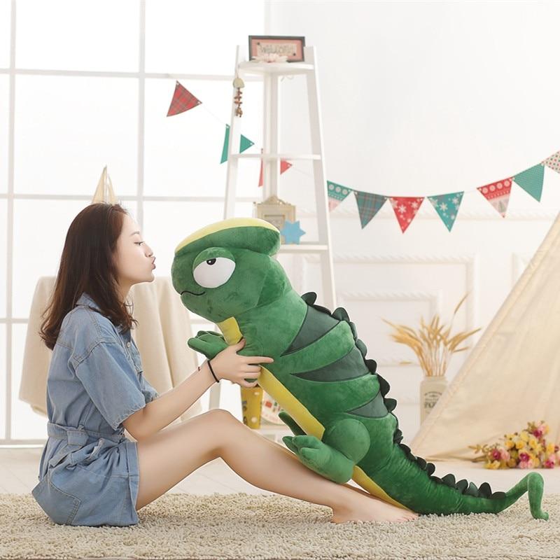 Большой размер 1 шт 100 см мультфильм Хамелеон плюшевая игрушка ящерица забавная креативная мягкая подушка для животных мягкая кукла подушка...