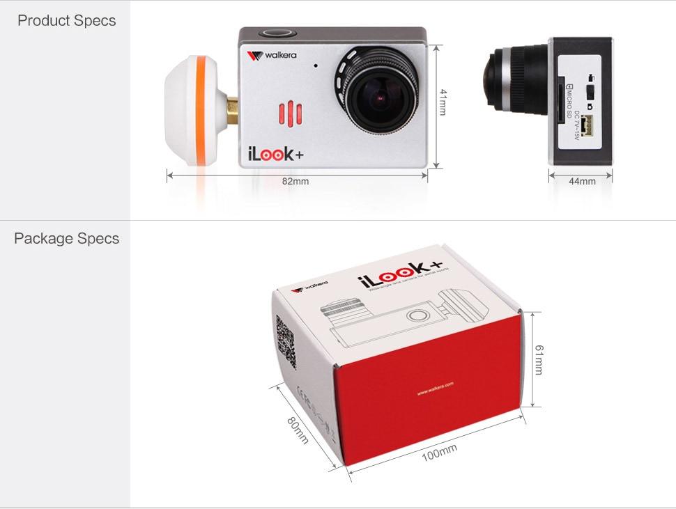 Free Shipping Origial Walkera RC Camera 13MP iLook+ FPV Drone Camera for QR X350 Pro Walkera TALI H500 /G-3D G-2D Gimbal enlarge