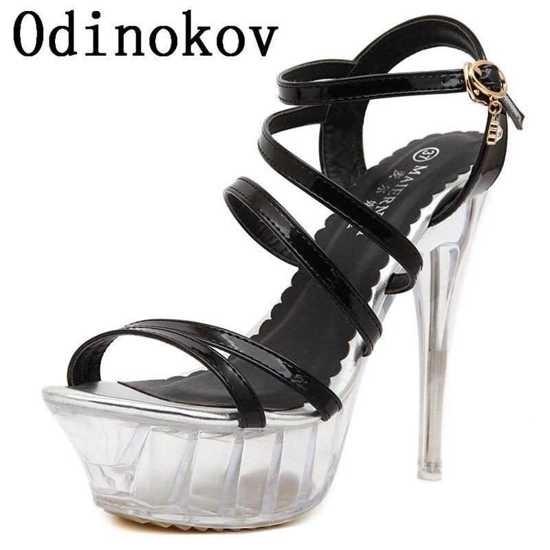 Odinokov 35-43, sandalias de gladiador con punta abierta cruzada sexis, zapatos de plataforma, sandalias, zapatos de verano, zapatos de tacón alto para mujer, tacones para mujer