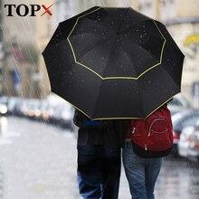 Parapluie grand Double pluie pour femmes   Entièrement automatique, résistant au vent, grand parapluie pliant, coupe-vent, imperméable, pour lextérieur, hommes