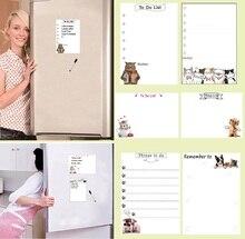 140mmx200mm magnético quadro branco geladeira ímãs marcador caneta escrita placa de mensagem planejador para fazer lista lembrete casa decoração da cozinha