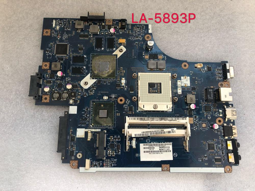 Para ACER ASPIRE 5741 de 5741G 5742G 5742G placa gráfica placa base Laptoop MBRAA02001 LA-5893P com GT320M maninboard
