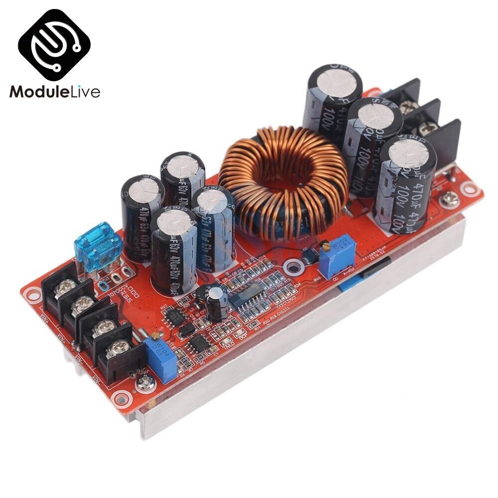 1200W 20A DC Wandler Steigern Konstante Strom Modul Variable Spannung Netzteil IN 8-60V