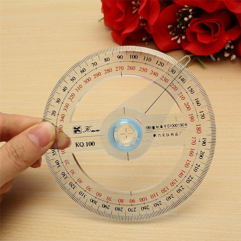 360 grad Kunststoff Pointer Winkelmesser Lineal Winkel Finder Schaukel Arm Schule Büro Liefern Rund Herrscher Durable Messung Werkzeug