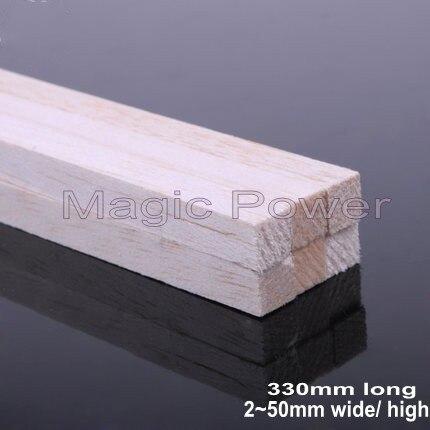 AAA + Balsa barras de madera tiras 330mm de largo 2 ~ 50mm de diámetro para avión/barco modelo de pesca madera DIY envío gratis