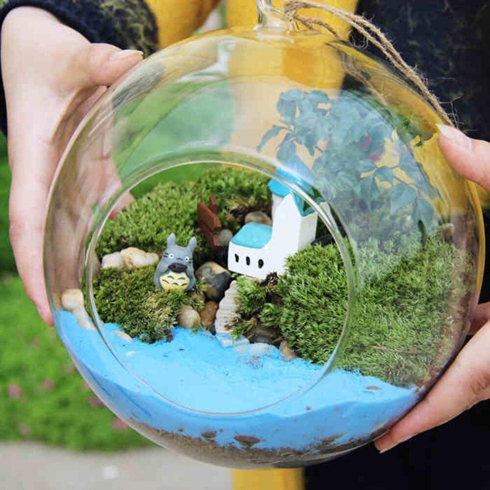 קוטר 8cm תליית זכוכית אגרטל פרחי צמח שולחן אגרטל Stand מחזיק חממה מיכל בעבודת יד מלאכת מתנת חתונה דקור אגרטל