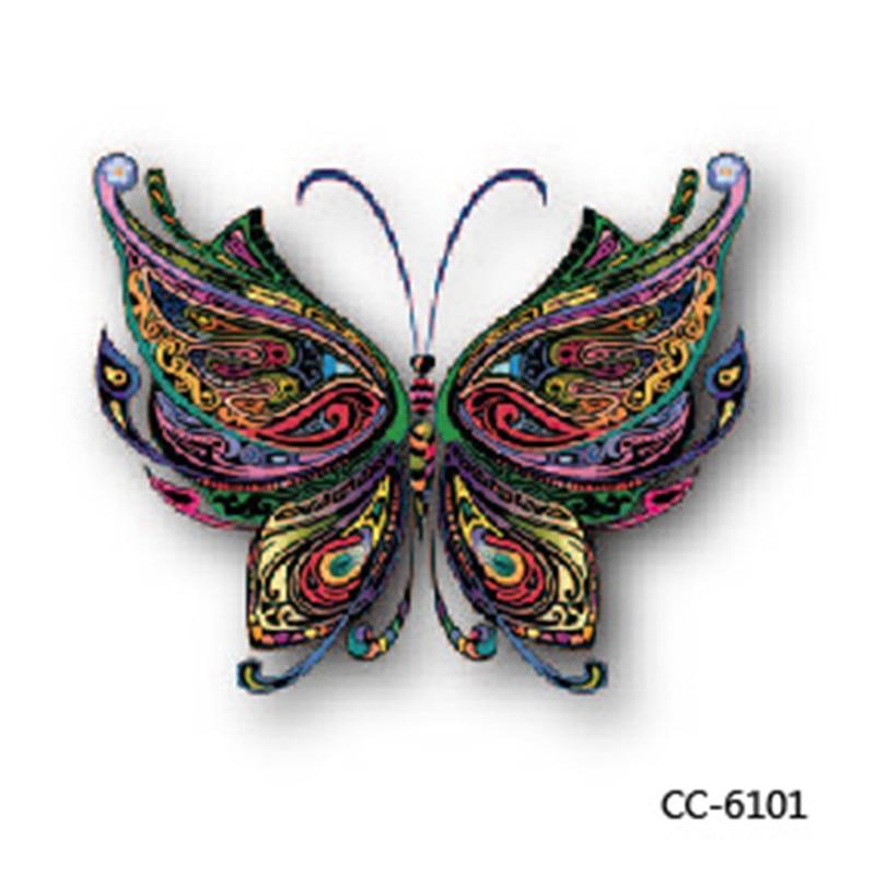 DIY 3D Mini Body Art waterproof temporary tattoos for men women butterfly design flash tattoo sticker CC6101