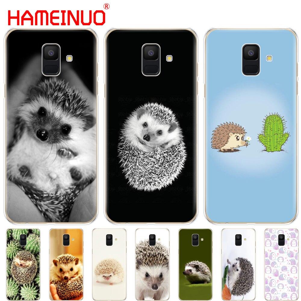 Funda de teléfono HAMEINUO hedgehog con bonitos dibujos de animales para Samsung Galaxy J4 J6 J8 A9 A7 2018 A6 A8 2018 PLUS j7 duo