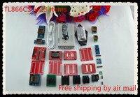 Free shipping XGECU V10.37 TL866II Plus TL866A Nand flash 24 93 25 mcu Bios EPROM USB AVR Universal Bios Programmer+23adapters