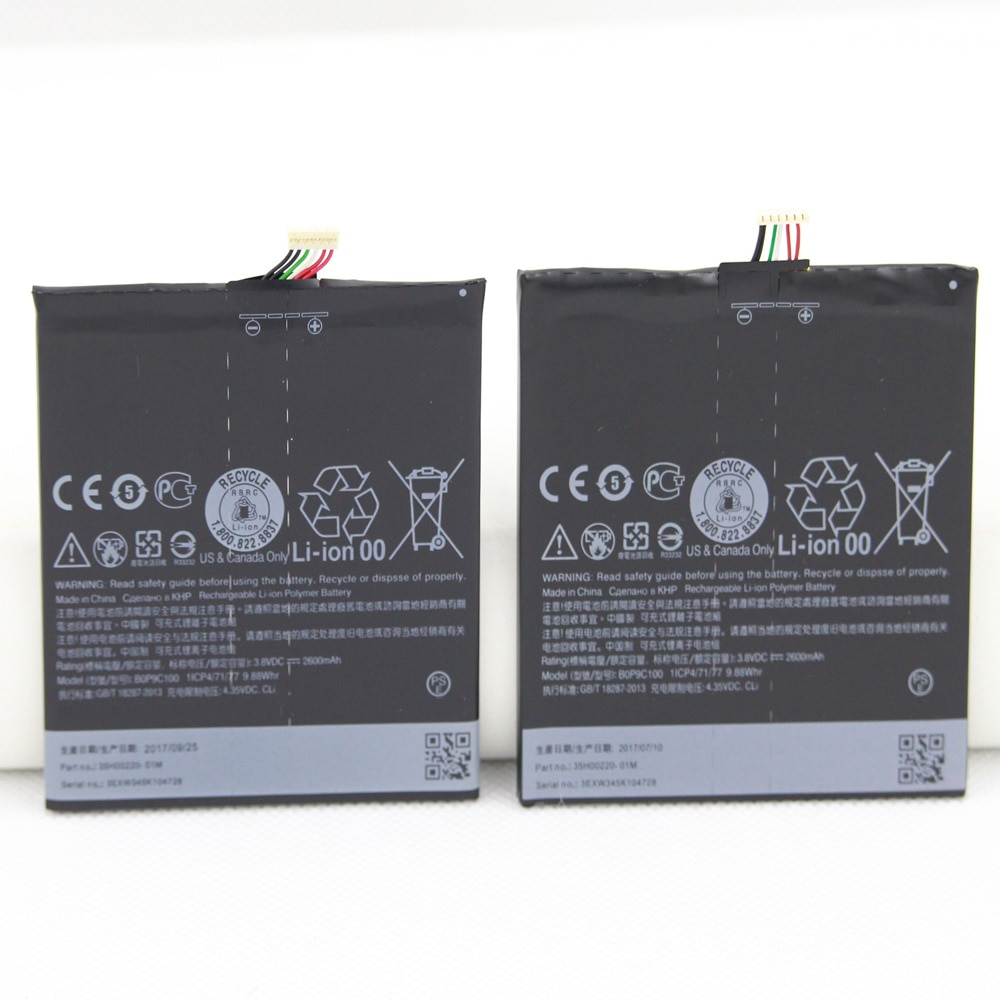 10pcs/lot BOP9C100 For HTC Desire 816 800 Battery D816 D816W 2600MAH A5 816v 816t 816e Bateria