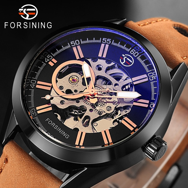Reloj de pulsera automático Tourbillon a prueba de agua de moda deportiva Casual 2019 relojes de esqueleto mecánicos militares de lujo de marca superior