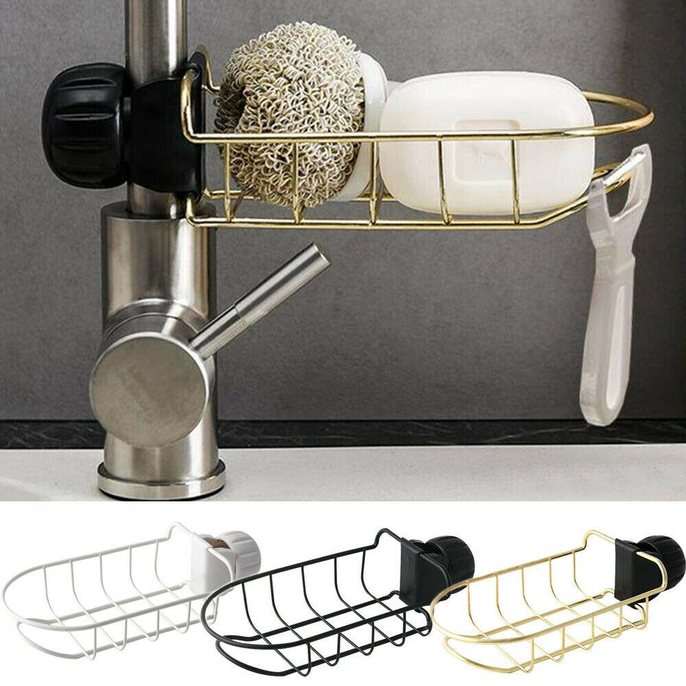 ¡Novedad de 2019! Fregadero de cocina, esponja, jabón, paño, escurreplatos, organizador de almacenamiento colgante, estante, soporte de esponja para el baño, estante