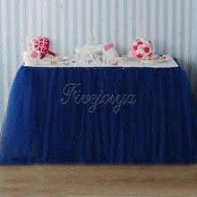Jupe Tutu de Table en Tulle bleu marine   Pour décoration de mariage, jupe Tutu en tissu, pour la maison, fête prénatale mariage