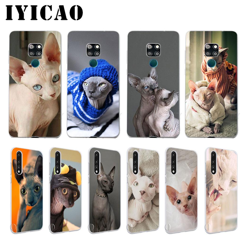 IYICAO esfinge gato duro caso de Huawei Honor 6A 6C 7A 7C 7X 8 8X 9 10 20 9X Lite Pro Honor juego Nota 10 20