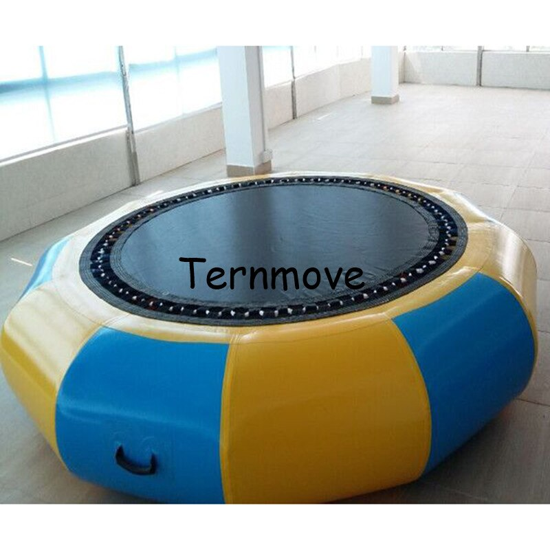 Flotador inflable para piscina, plataforma de agua inflable, parque de agua flotante, cama hinchable para saltar en el mar, juego de agua para lago