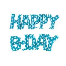 Ballons à air HAPPY BDAY connection   Lettres en feuille, ballons décoratifs de fête danniversaire, ballons de décoration pour fête prénatale