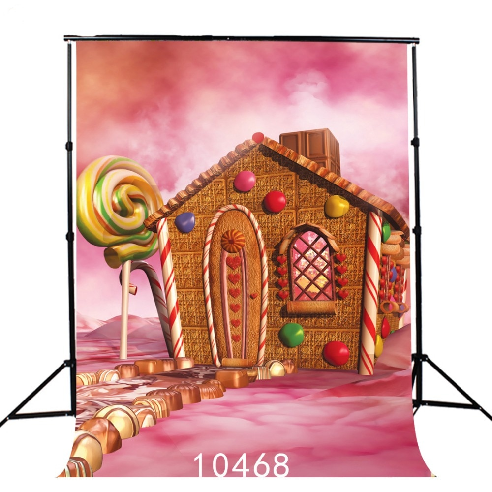 Candy Cane Sweety House Party Play Photography Backdrop for Photo Booth Vinyl Cloth Customized Photo Studio Background Photocall