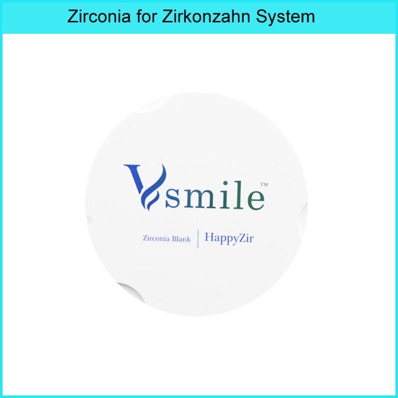 Vsmile 16 shades 95mm prettau multilayer dental zirconia block for super translucen multilayer for zirkonzahn system