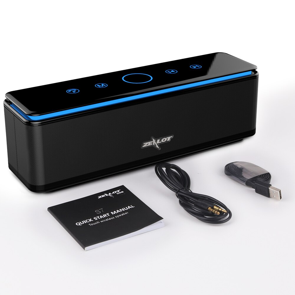 ZEALOT S7 Home Theater Portable High Power Bluetooth Speaker 3D Hifi Wireless Speakers Bass Subwoofer Soundbar Supprt TF card enlarge