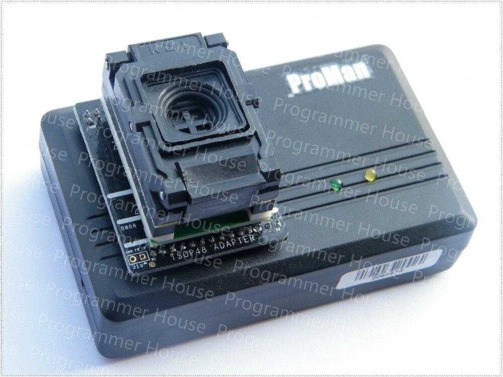 Envío Gratis 0,8 MM BGA63 IC programador adaptador/BGA63 a DIP48 zócalo de prueba de circuito integrado 9X 11mm/NAND proman TL866 PLUS + 10.5X13.5MM matriz