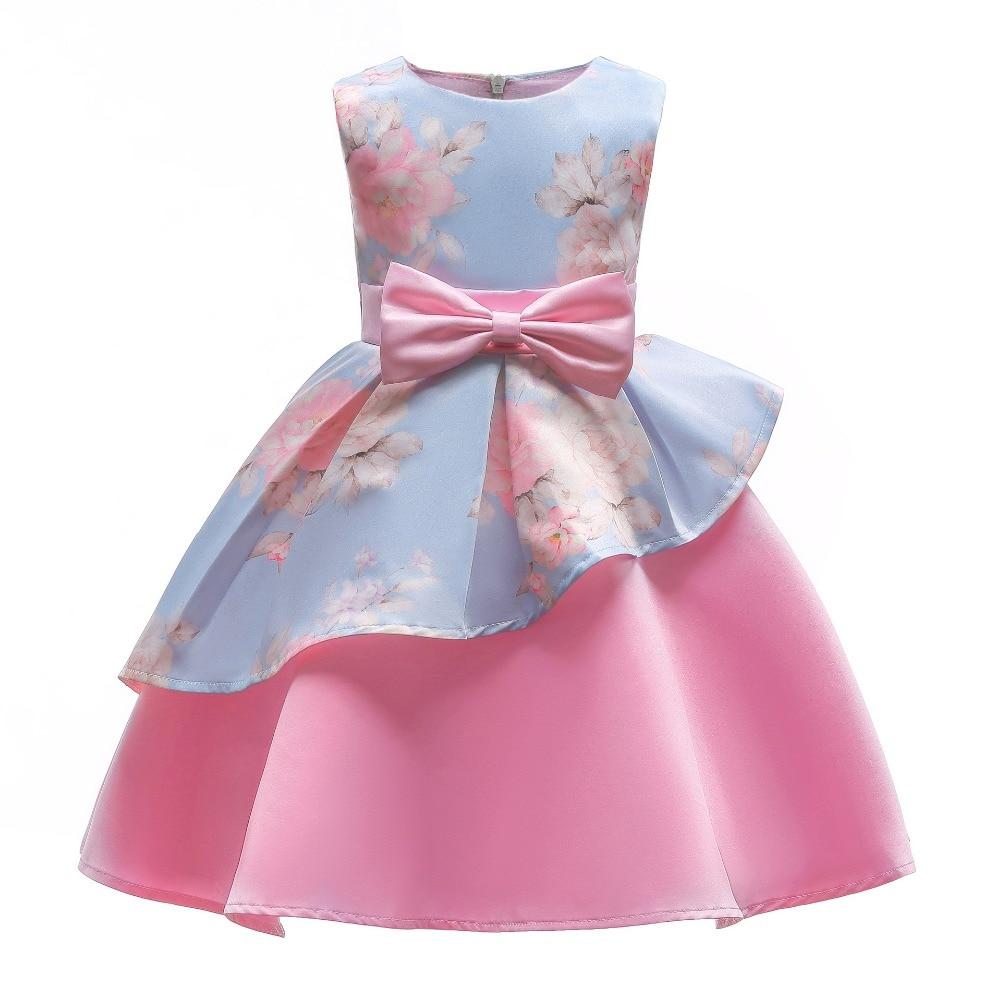 Vestido para niña 2018, vestido de fiesta de verano para niño niña, moda, traje de cumpleaños y boda para 3 4 5 6 7 8 9 10 años
