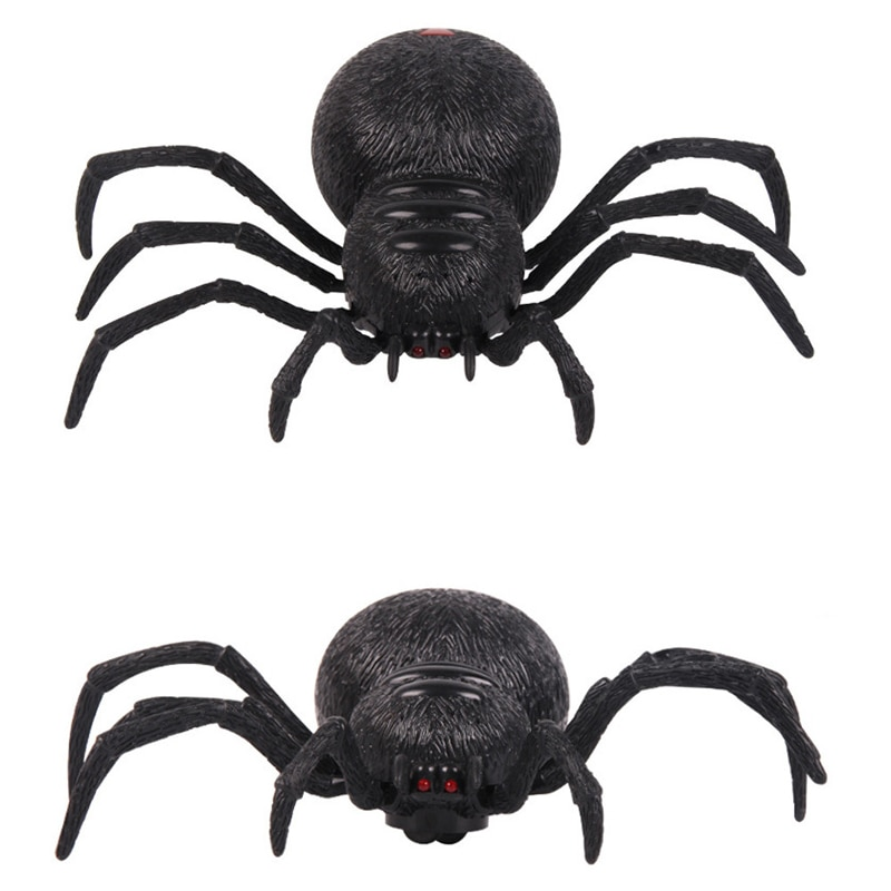 Two channels Remote Control Spider Scary Wolf Spider Robot Realistic Novelty Prank Halloween Holiday RC Tricky Funny Prank Toys enlarge