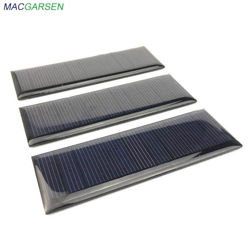 MACGARSEN 1pcs Epoxy Solar Panel 5.V 65mA Polycrystalline solar cell 90*30mm Cell Phone Battery Power Photovoltaic Solar Panel