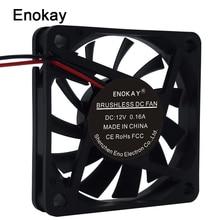 1pc Enokay 60mm 12V 24V 2Pin 60x60x10mm Computer Cooler Ventilation Cooling Fan