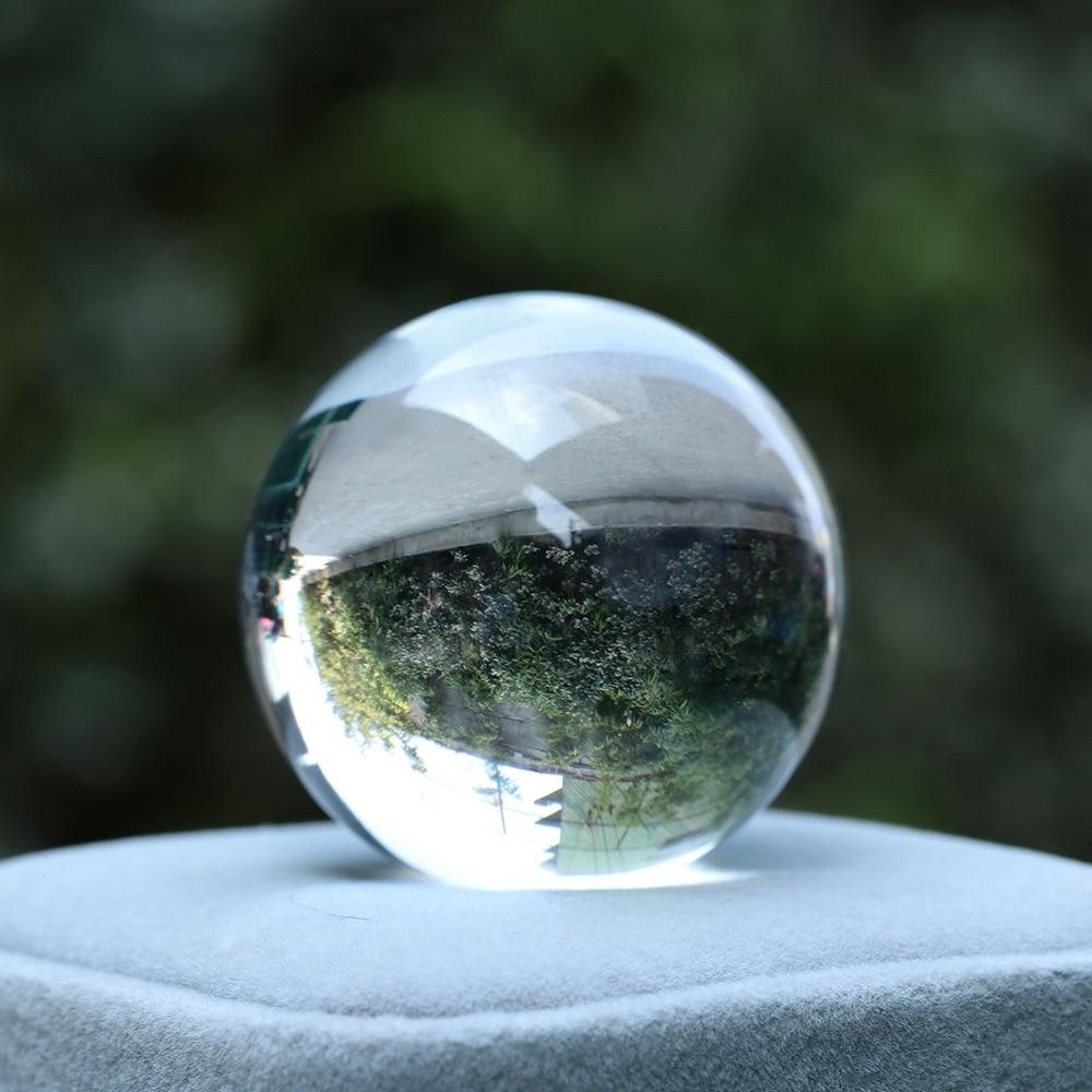30/40mm Crystal Ball Natural Pink Amethyst Quartz Stone Sphere Crystal Fluorite Ball Healing Gemstone DIY Home decor