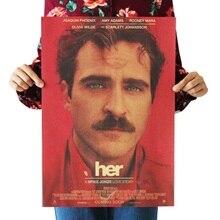WXH-film damour classique   film dhollywood Scarlett/Her/papier kraft/stickers muraux/affiche rétro bar/peinture décorative 51x35.5cm