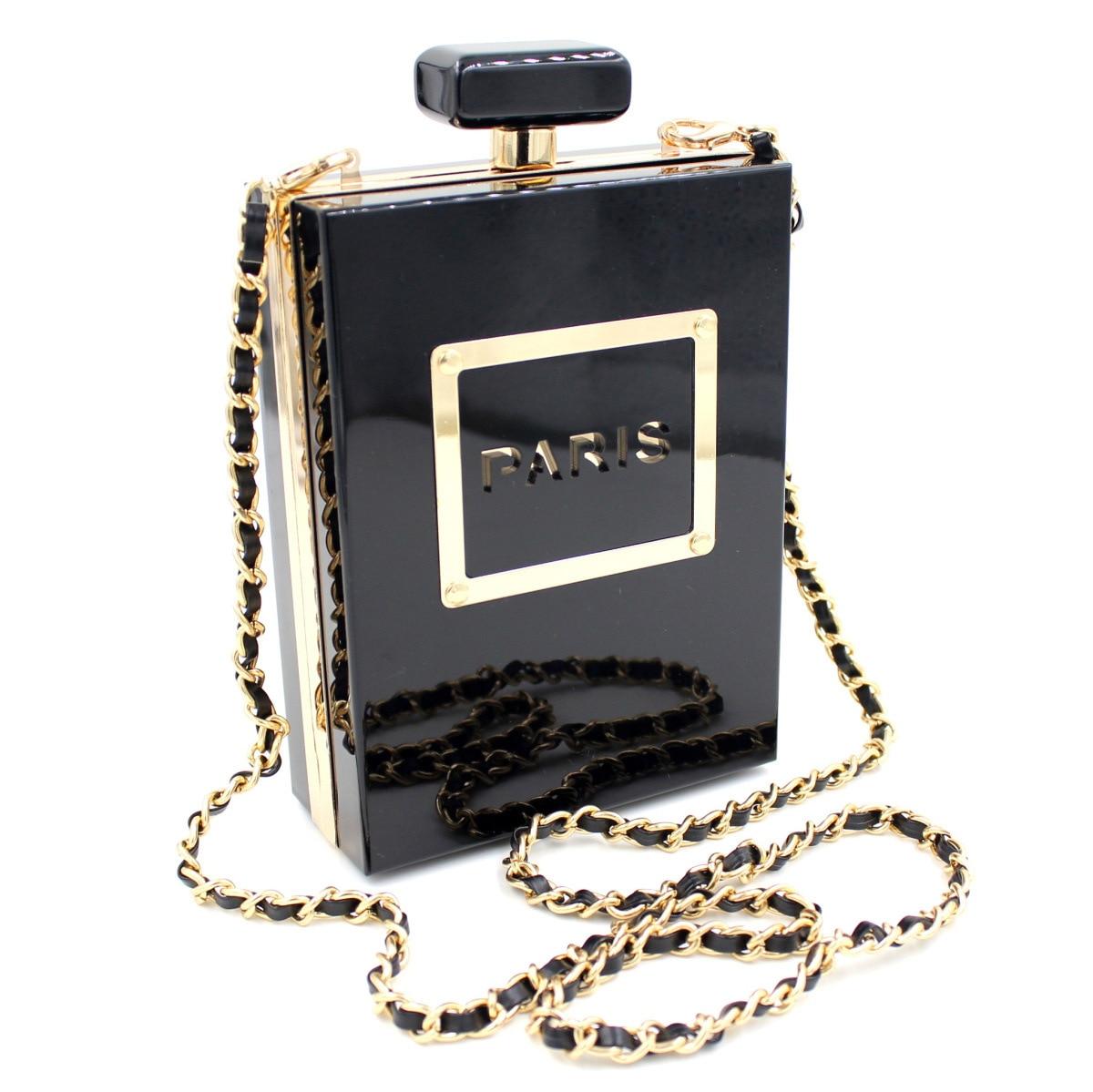 2016 Bolsa Feminina Bolsos Seckill Europa transparente Perfume botella paquete Yanbao alta calidad pasarela mano Bao Daifa banquete