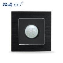 Interrupteur de panneau en métal Satin   Capteur de mouvement à, Interrupteur Wallpad, capteur IR naturel de luxe, Interrupteur de applique murale descalier