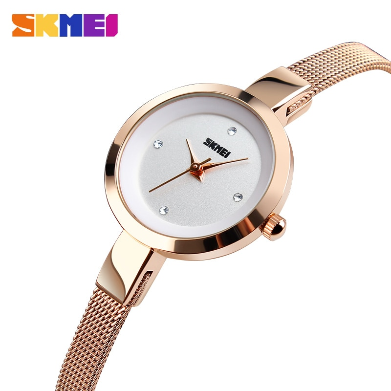 2018 New Fashion SKMEI Luxury Ladies Watch Women Watch Stainless Steel Thin Strap Female Quartz Wristwatch Relogio Feminino enlarge