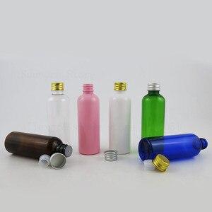 30 x пустой 100 мл дорожный пластиковый самодельный крем эфирное масло бутылка с жидким лосьоном прозрачный Янтарный синий контейнер с алюмин...