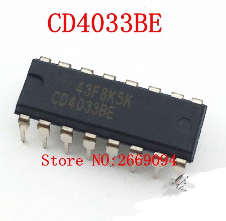 50 STÜCKE/100 STÜCKE Freies verschiffen CD4033BE CD4033 HEF4033BP DIP HCF4033BE HCF4033 4033 DIP16 neu und original IC