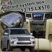 Caja de interfaz de vídeo Android / carplay para Lexus LX570 LX 2013-2015 con enlace de espejo GVIF youtube yandex LX450d