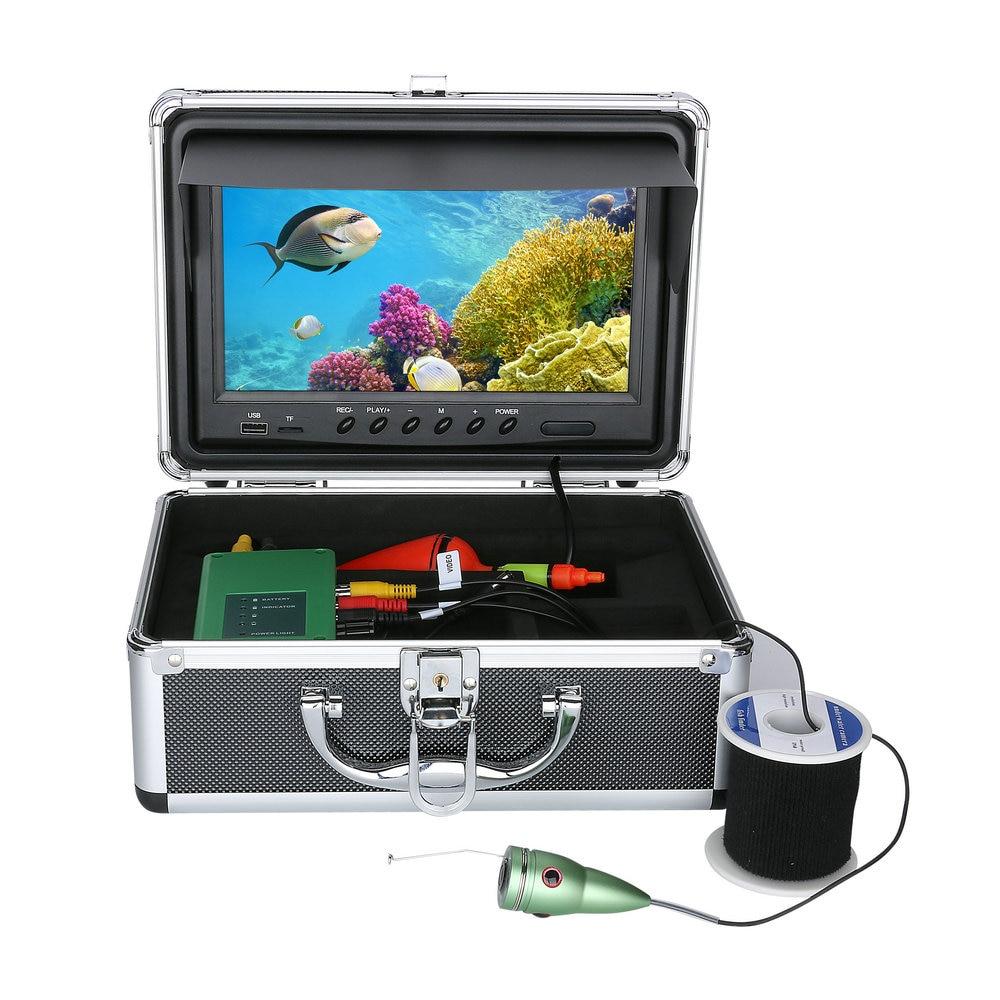 GAMWATER 9 inch DVR Underwater Fishing Video Camera 1000TVL Fish Finder HD Recorder Waterproof Fishing Camera with 6pcs1W IR LED enlarge