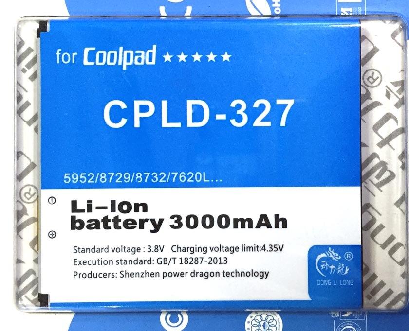Batería CPLD-327 para Coolpad K1 5952, 8729 de 8732 7620L 2500 mAh Donglilong CPLD327
