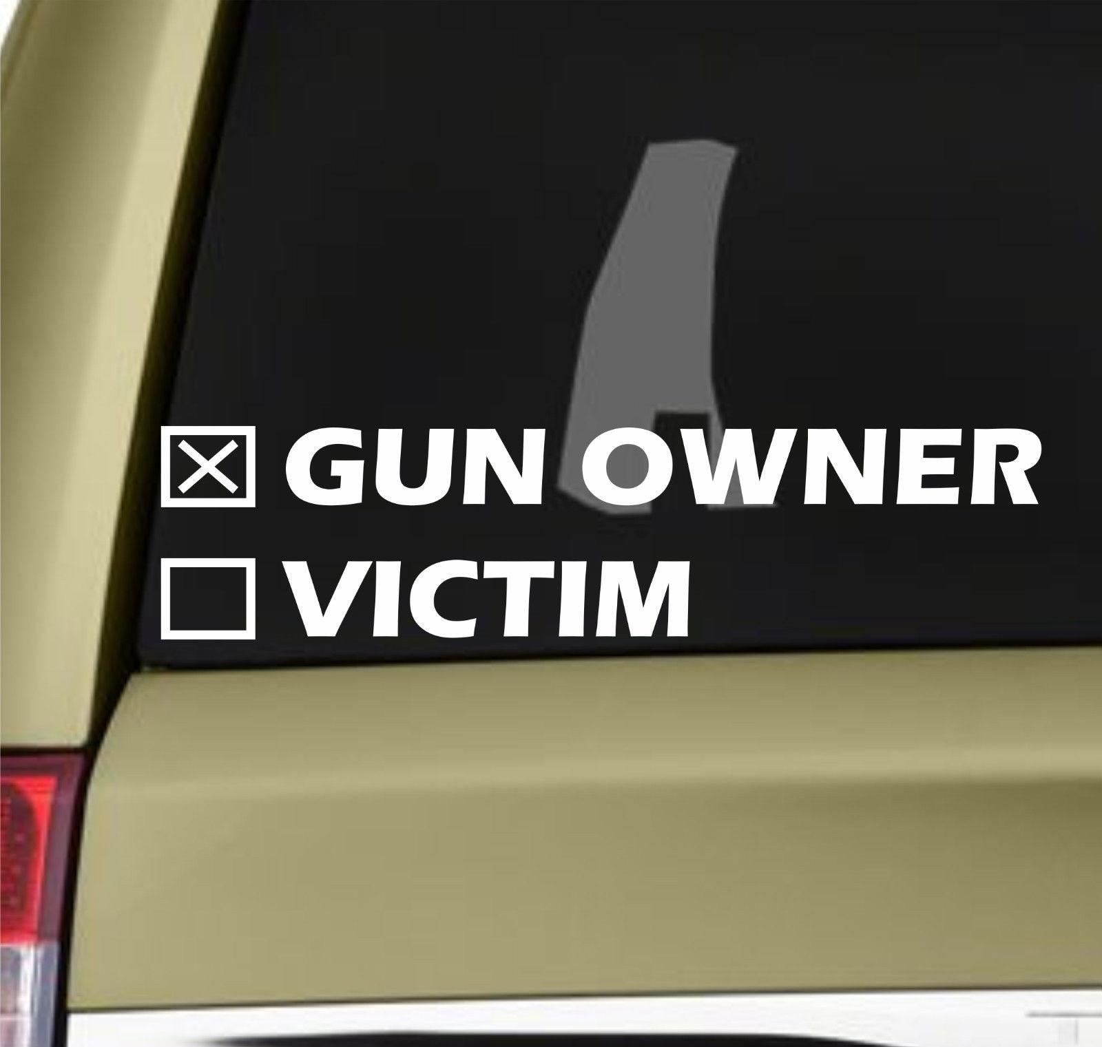 Arma proprietário ou vítima adesivos vinil decalque pro nra pistola bala rifle m16 20x5cm